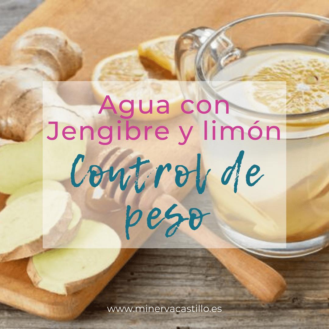 Minerva Castillo Coach Agua con limon y jengibre adelgazar perder peso dieta